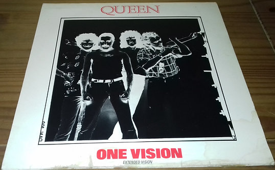 """Queen - One Vision (Extended Vision) (12"""", Single, Red) (EMI, EMI)"""