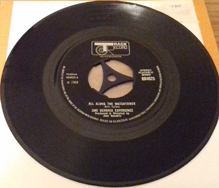 """Jimi Hendrix Experience* - All Along The Watchtower (7"""", Single) (Track Record)"""