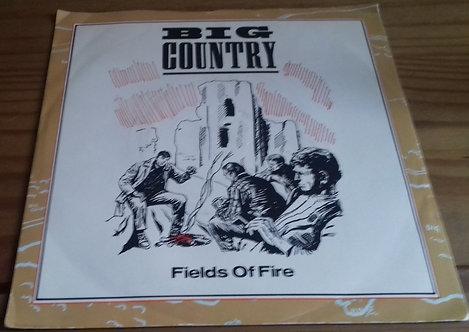"Big Country - Fields Of Fire (7"", Single, Sil) (Mercury, Mercury)"