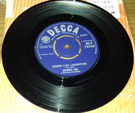 "Sounds Inc.* - Sounds Like Locomotion / Taboo (7"", Single) (Decca)"
