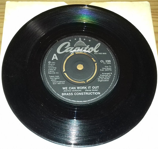 """Brass Construction - We Can Work It Out (Edited Version) (7"""") (Capitol Records,"""