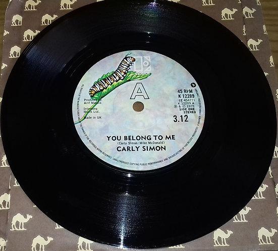"Carly Simon - You Belong To Me (7"", Single) (Elektra)"