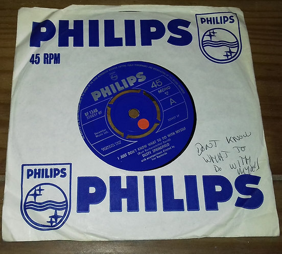 """Dusty Springfield - I Just Don't Know What To Do With Myself (7"""", Single, Mono,"""