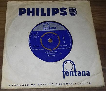 """Alice Babs - After You've Gone (7"""") (Fontana, Fontana)"""