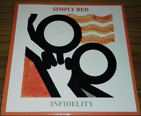 """Simply Red - Infidelity (7"""", Single, Red) (Elektra)"""