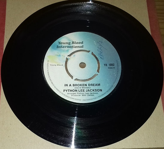 "Python Lee Jackson - In A Broken Dream (7"", Single, RE, Kno) (Young Blood Intern"