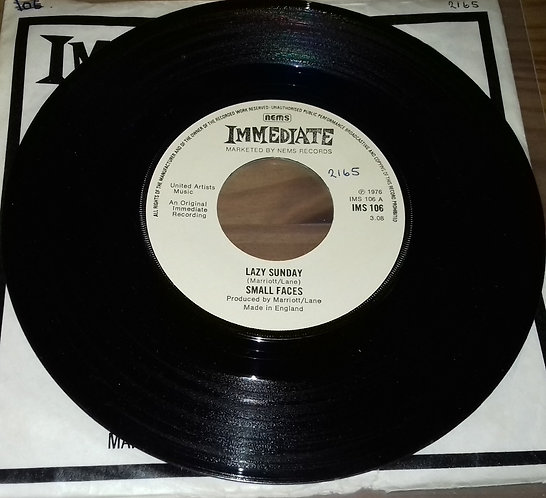 """Small Faces - Lazy Sunday (7"""", RE, Pus) (Immediate)"""