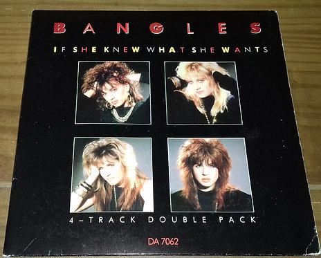 "Bangles - If She Knew What She Wants (2x7"", Single, Ltd) (CBS)"