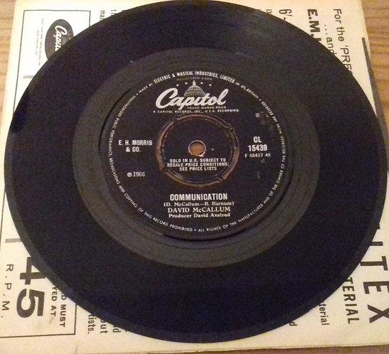 "David McCallum - Communication (7"", Single) (Capitol Records)"