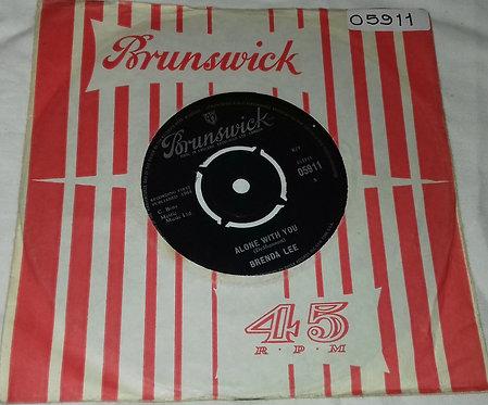 "Brenda Lee - Alone With You (7"", Single) (Brunswick)"