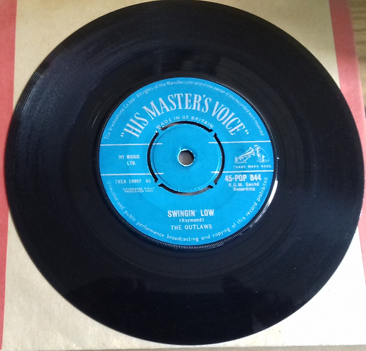 """The Outlaws  - Swingin' Low (7"""", Single) (His Master's Voice)"""