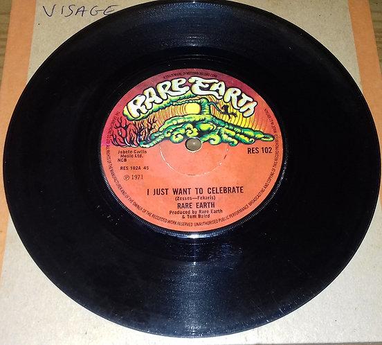 """Rare Earth - I Just Want To Celebrate (7"""", Single) (Rare Earth)"""