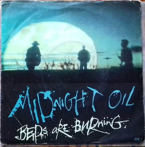 "Midnight Oil ‎– Beds Are Burning 7"" Single"