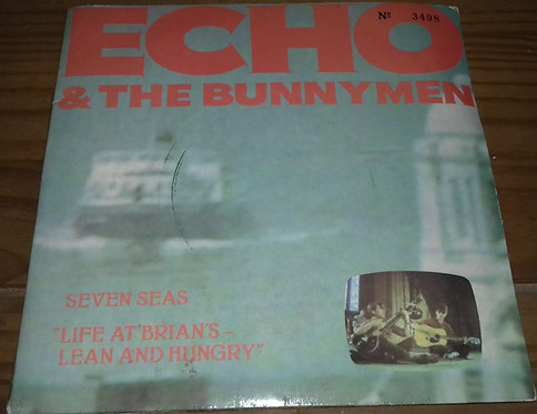 """Echo & The Bunnymen - Seven Seas """"Life At Brian's - Lean And Hungry"""" (2x7"""", Sing"""