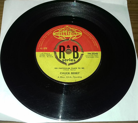 """Chuck Berry - No Particular Place To Go (7"""", Single, Kno) (Pye International)"""