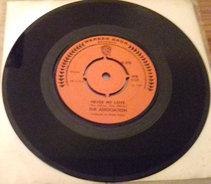 "The Association  - Never My Love / Windy (7"", Single) (Warner Bros. Records)"