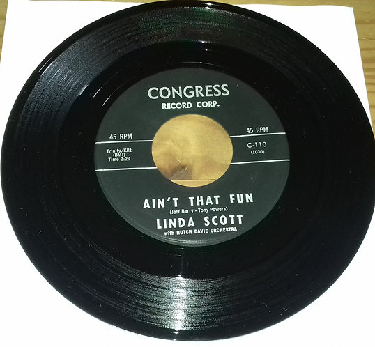 "Linda Scott - Ain't That Fun (7"", Single) (Congress)"