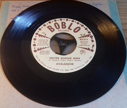 "Avalanche  - Mister Boogie Man / You Know My Love (7"") (Boblo Records)"