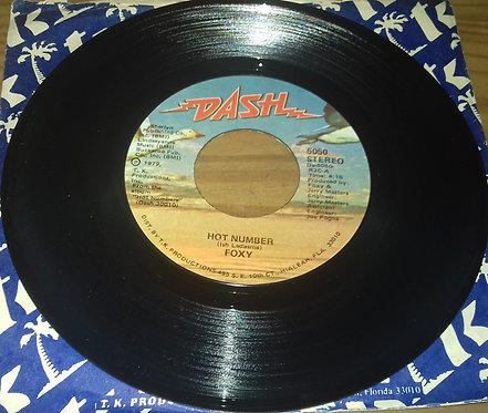 """Foxy - Hot Number (7"""", Single) (Dash)"""