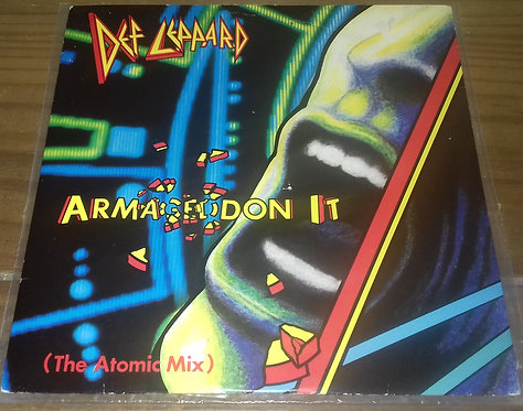 "Def Leppard - Armageddon It (The Atomic Mix) (7"", Single, Pap) (Bludgeon Riffol"
