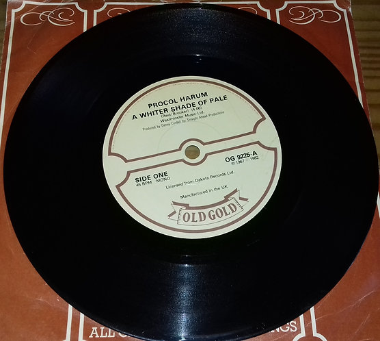 """Procol Harum - A Whiter Shade Of Pale / Homburg (7"""") (Old Gold (2))"""