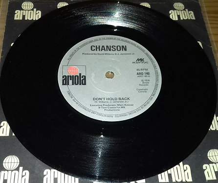 "Chanson - Don't Hold Back (7"", Single) (Ariola)"