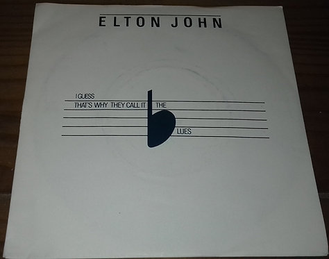 "Elton John - I Guess That's Why They Call It The Blues (7"", Single, Sil) (The Ro"