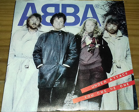 """ABBA - Under Attack (7"""", Single, Pap) (Epic, Epic)"""
