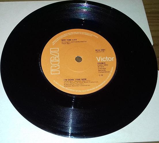 "New York City - I'm Doin' Fine Now / Ain't It So (7"", Single, Sol) (RCA Victor,"