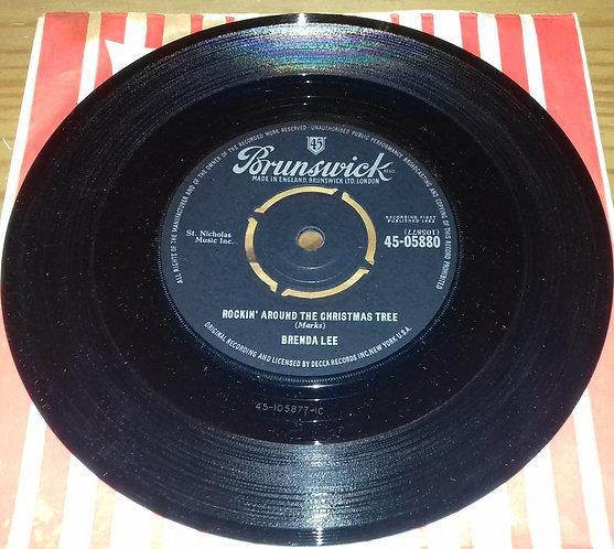 """Brenda Lee - Rockin' Around The Christmas Tree (7"""", Single) (Brunswick)"""