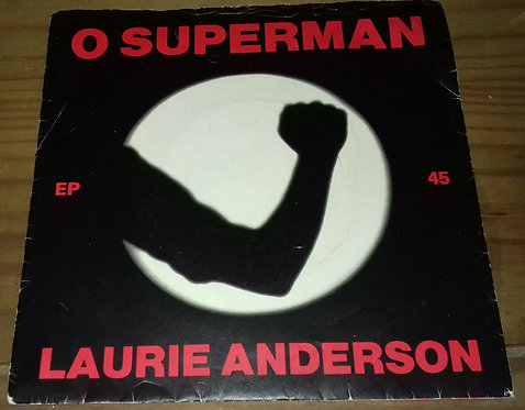 """Laurie Anderson - O Superman (7"""", EP, RP, Sil) (Warner Bros. Records)"""