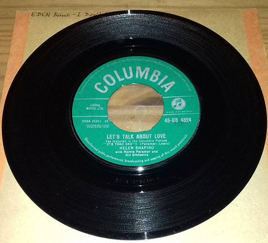 """Helen Shapiro With Norrie Paramor And His Orchestra - Let's Talk About Love (7"""","""