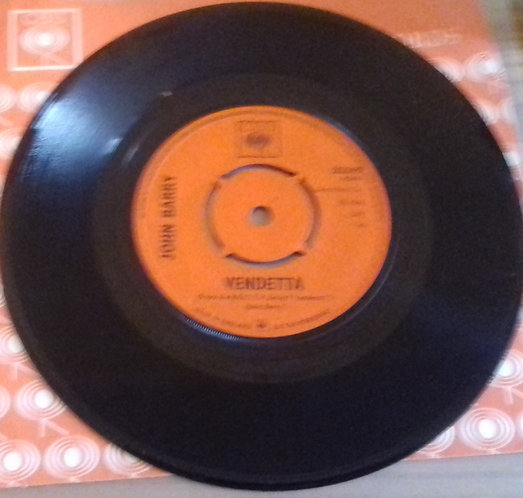 "John Barry - Vendetta (7"", Single) (CBS)"