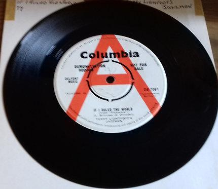 "Terry Lightfoot's Jazzmen - If I Ruled The World (7"", Single, Promo) (Columbia)"