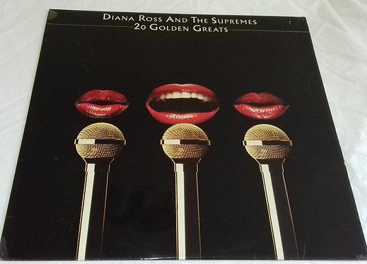 Diana Ross & The Supremes* - 20 Golden Greats (LP, Comp) (Motown, Motown, Motown