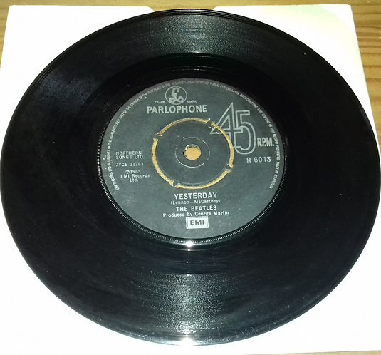 """The Beatles - Yesterday c/w I Should Have Known Better (7"""", Single, Bla) (Parlop"""