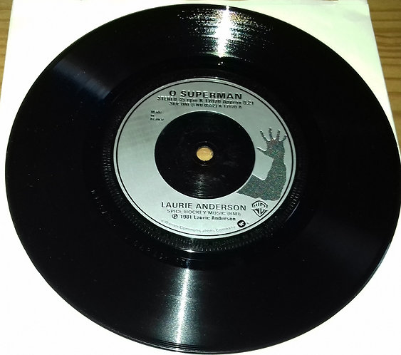 "Laurie Anderson - O Superman (7"", EP, RP, Sil) (Warner Bros. Records)"