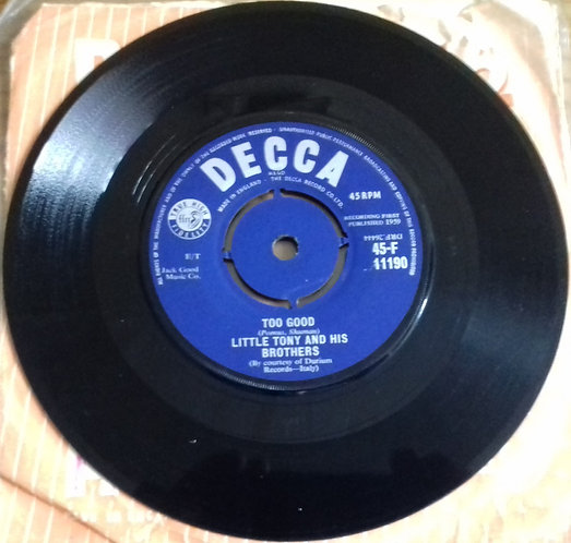 """Little Tony And His Brothers - Too Good (7"""", Single) (Decca)"""