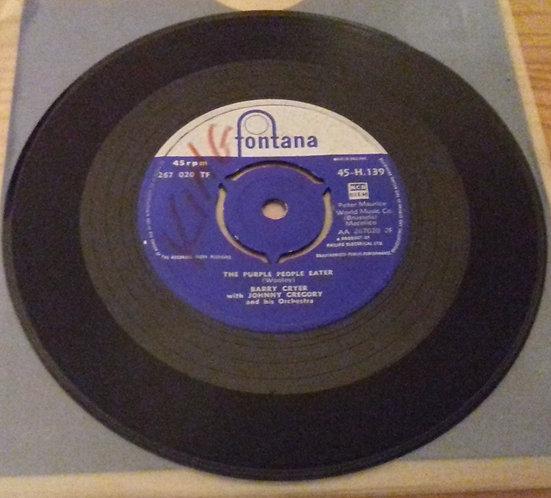 """Barry Cryer - Purple People Eater / Hey! Eula (7"""", Single) (Fontana)"""