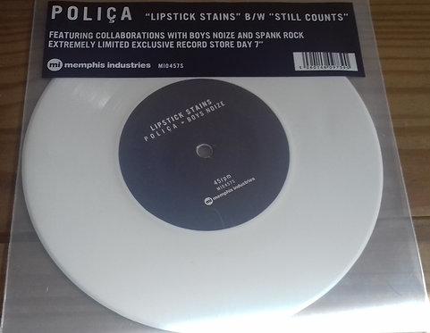 "Poliça - Lipstick Stains / Still Counts (7"", Single, Ltd, Whi) (Memphis Industri"