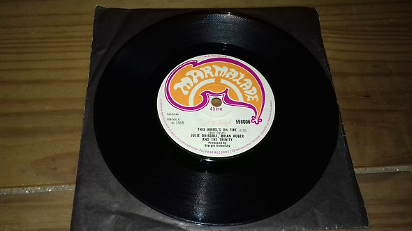 """Julie Driscoll, Brian Auger And The Trinity* - This Wheel's On Fire (7"""", Single,"""