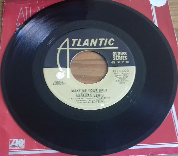 "Barbara Lewis - Baby, I'm Yours / Make Me Your Baby (7"", Single) (Atlantic)"