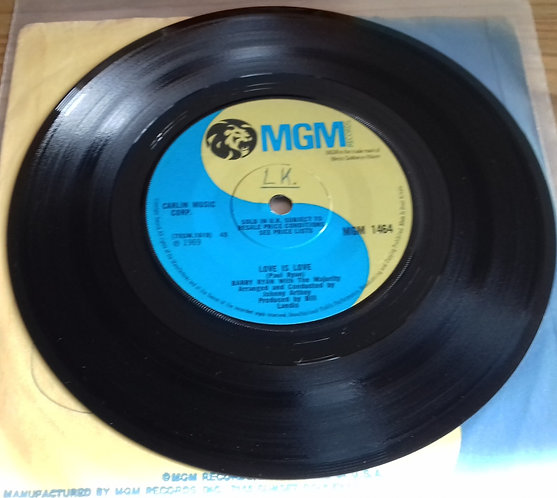 """Barry Ryan - Love Is Love (7"""", Single, sol) (MGM Records)"""