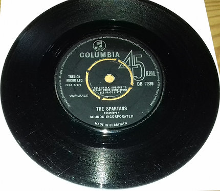 """Sounds Incorporated - The Spartans (7"""", Single) (Columbia)"""