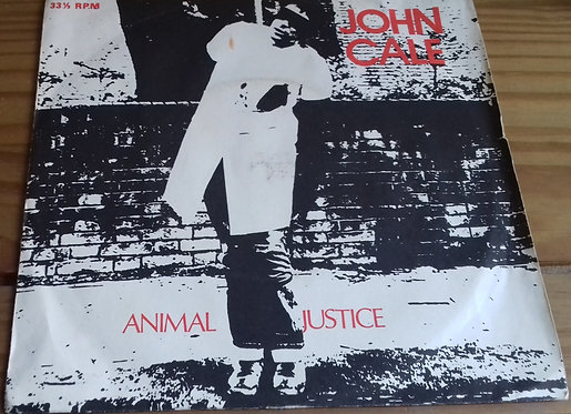"""John Cale - Animal Justice (7"""", EP) (Illegal Records (2))"""