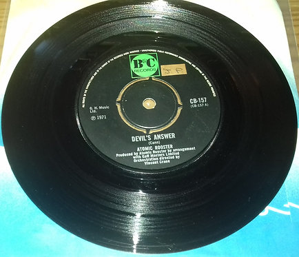 """Atomic Rooster - Devil's Answer (7"""", Single, 4-P) (B & C Records)"""