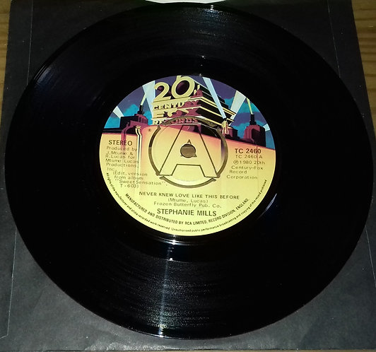 """Stephanie Mills - Never Knew Love Like This Before (7"""", Single, Com) (20th Cent"""