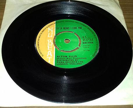 """Alton Ellis - La La Means I Love You / Give Me Your Love (7"""", Single, Gre) (New"""