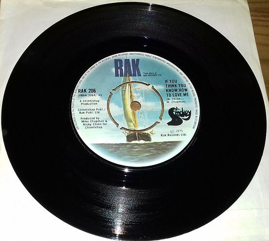 "Smokey* - If You Think You Know How To Love Me (7"", Single) (RAK)"