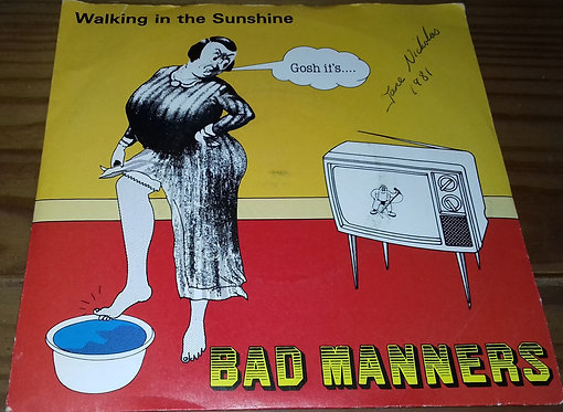 """Bad Manners - Walking In The Sunshine (7"""", Single, Dam) (Magnet (2))"""